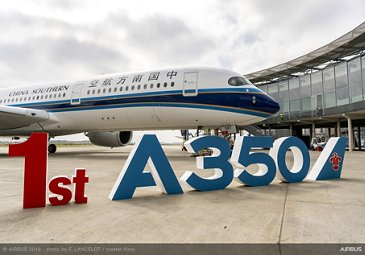 First China Southern Airlines A350-900 delivery