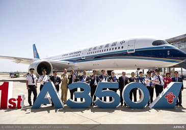 China Southern Airlines receives first A350-900