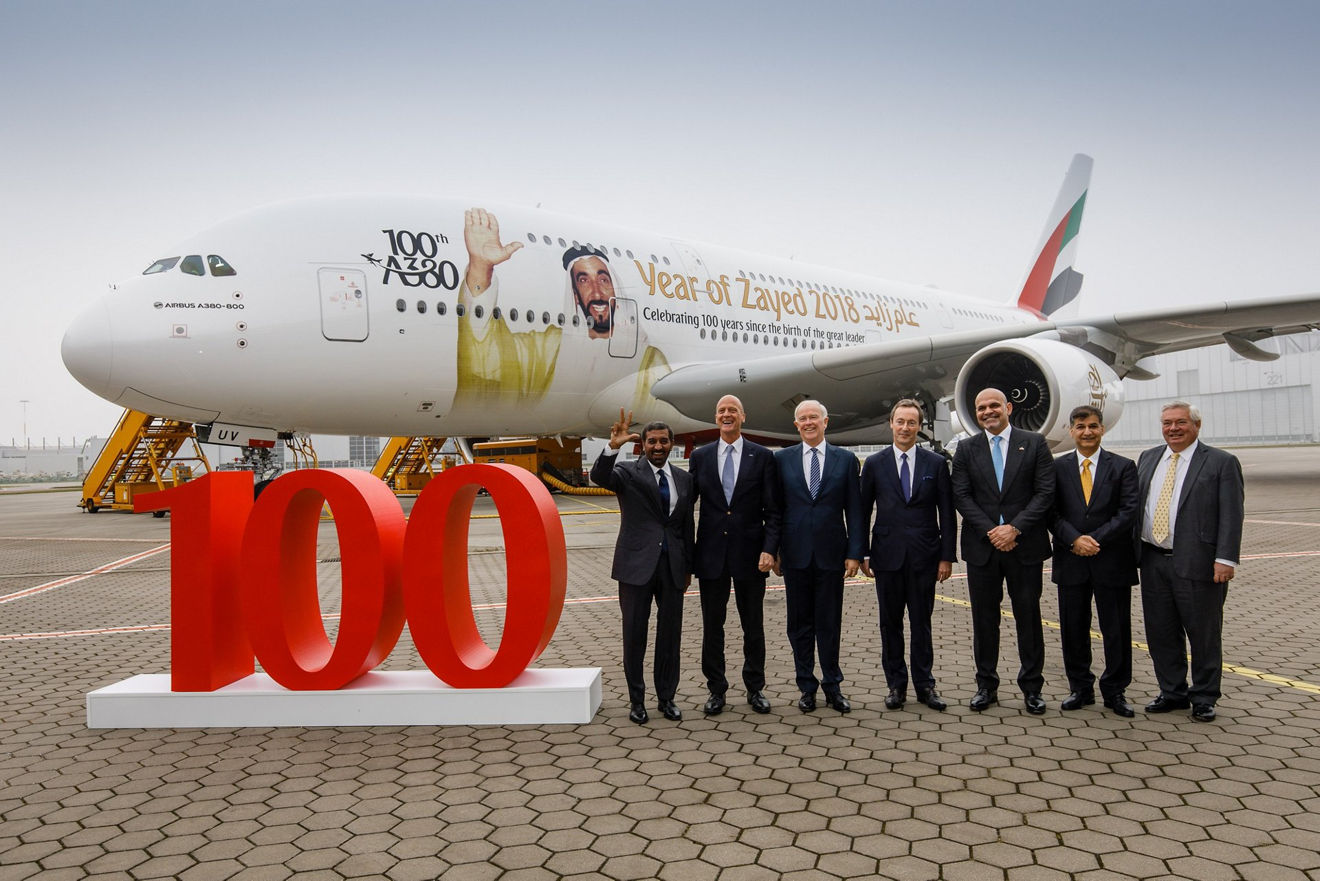 Emirates welcomes 100th A380 to its fleet celebrating milestone delivery in Hamburg