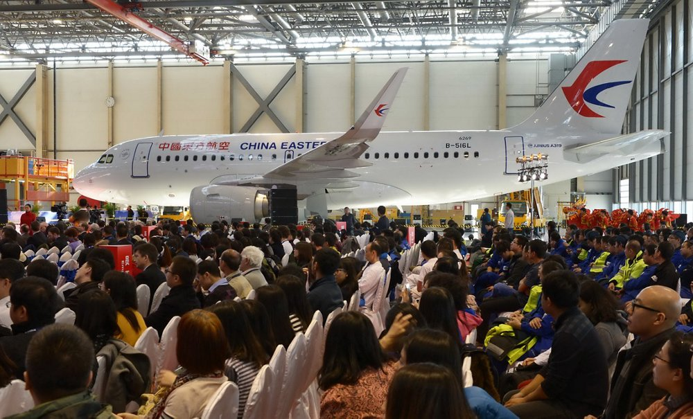 A December 2014 event at the Airbus Tianjin Final Assembly Line (FALC) marked this site's 200th jetliner assembled – an A319 for China Eastern Airlines.