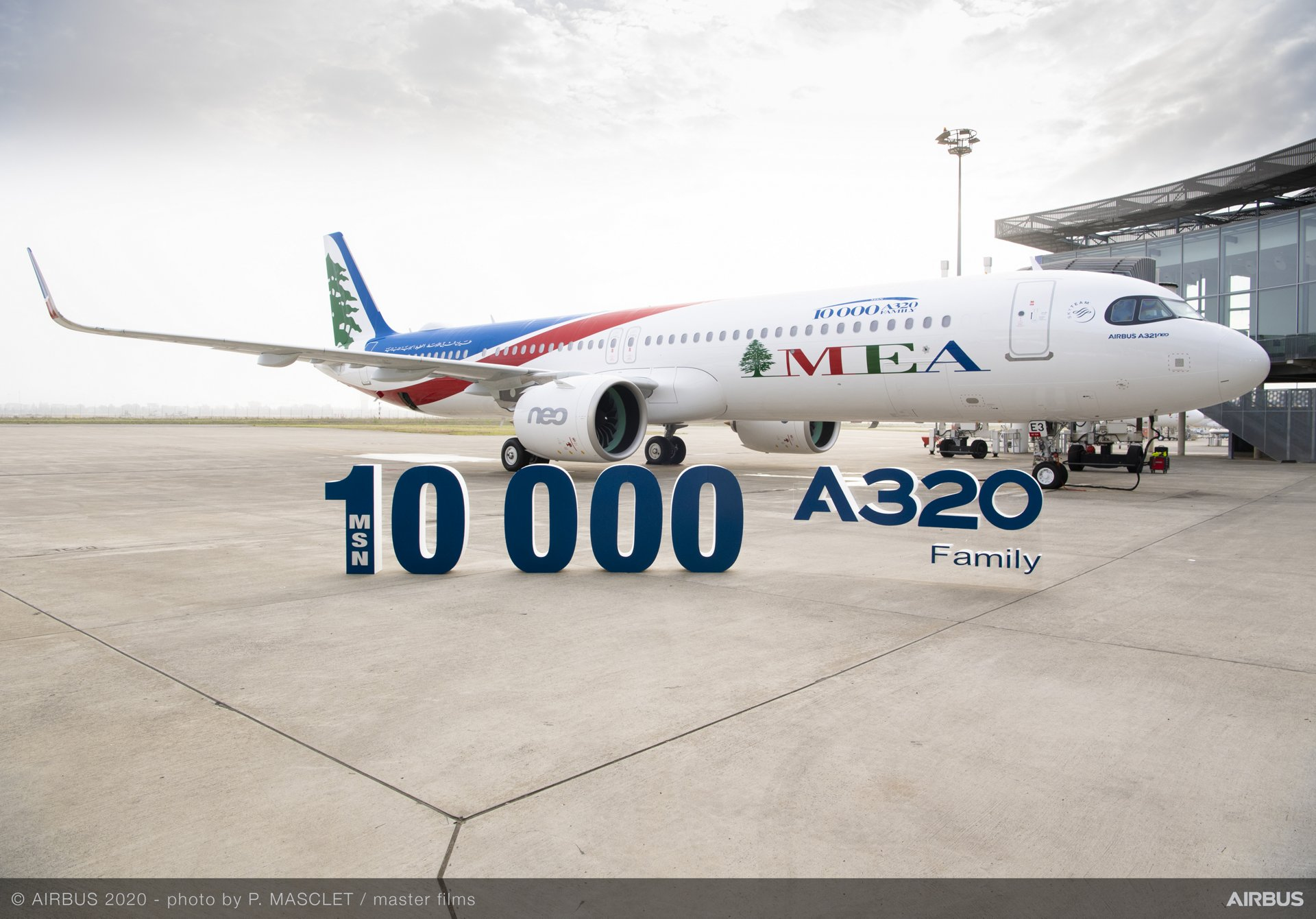 Delivery of the A321neo MSN10000 for Middle East Airlines Ceremony at the Airbus Delivery Centre in Toulouse