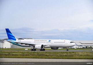 Ferry Flight of the first A330neo for Garuda Indonesia