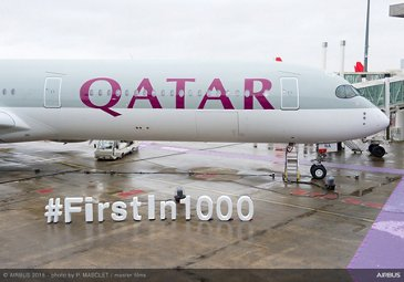 Airbus delivers first A350-1000 to Qatar Airways – 1