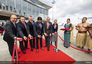Fiji Airways A350-900 delivery ceremony – ribbon-cutting