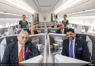 Fiji Airways A350-900 delivery ceremony – cabin visit