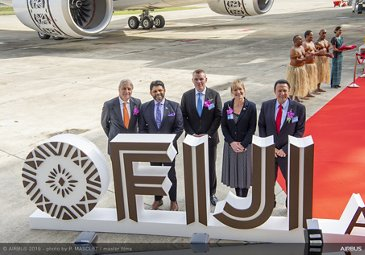 AG真人计划 delivers Fiji Airways鈥� first A350-900
