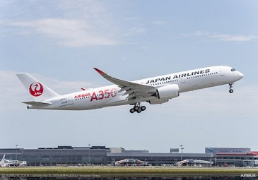 Delivery of Japan Airlines' first A350 XWB