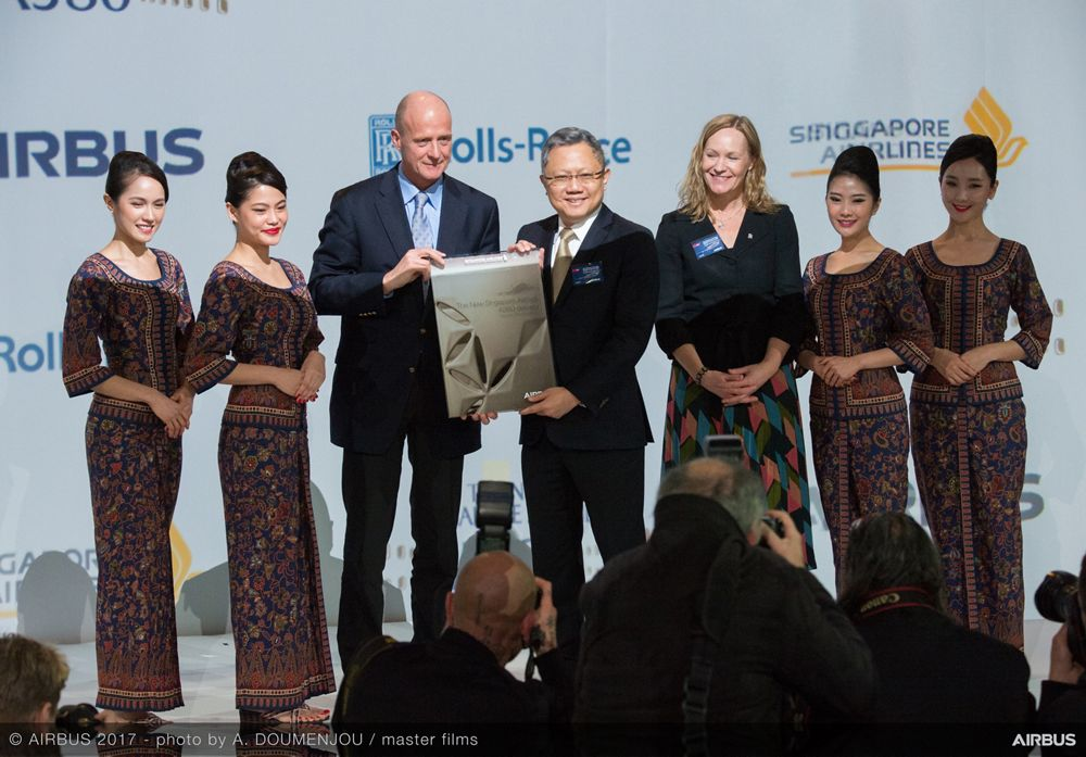 New Singapore Airlines A380 delivery ceremony 2
