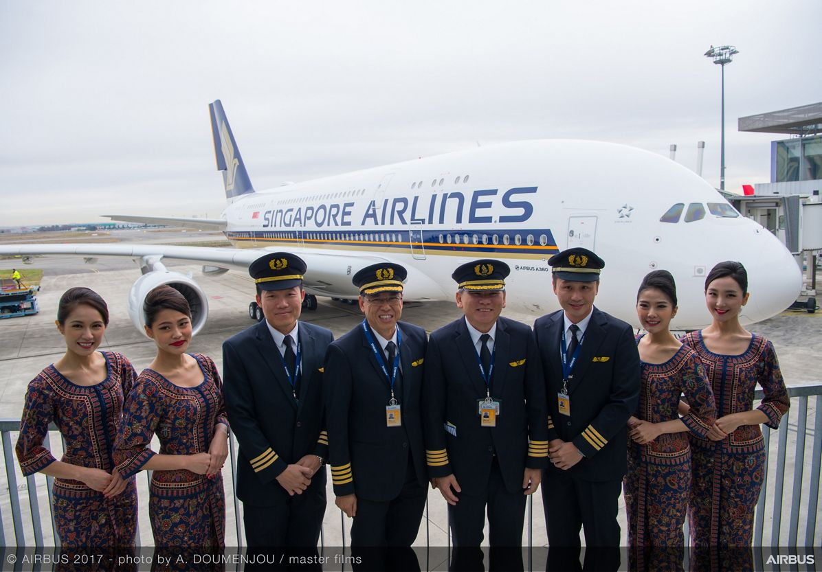 New Singapore Airlines A380 delivery ceremony – pilots and cabin crew