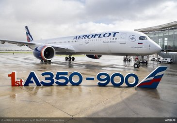 First A350-900 Aeroflot MSN383 With Letters - Delivery ceremony