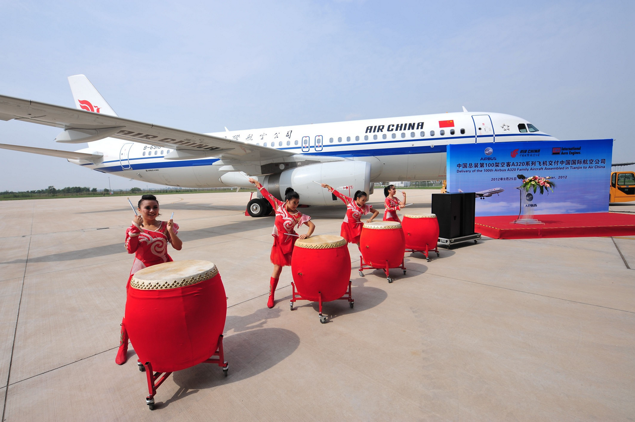 Handover of the milestone 100th A320 Family jetliner assembled in China – which was received by Air China on 25 September 2012 – took place some three years after the first aircraft was delivered