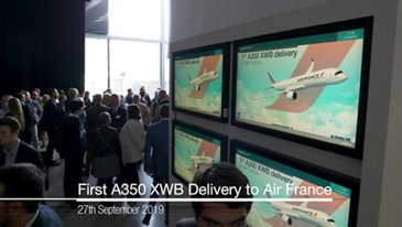 First Air France A350 XWB: delivery ceremony
