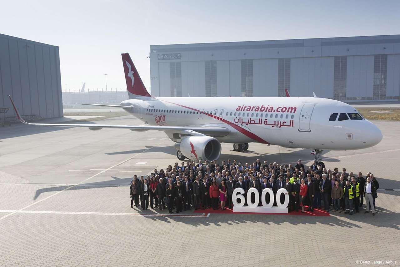 6,000th A320 Family delivery