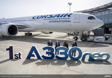 First A330neo delivery to Corsair
