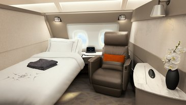 New Singapore Airlines A380, Suite - SIA Copyright
