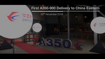 China Eastern Airlines' first A350-900: delivery ceremony highlights