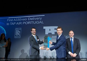 Top management at TAP Air Portugal A330neo delivery ceremony
