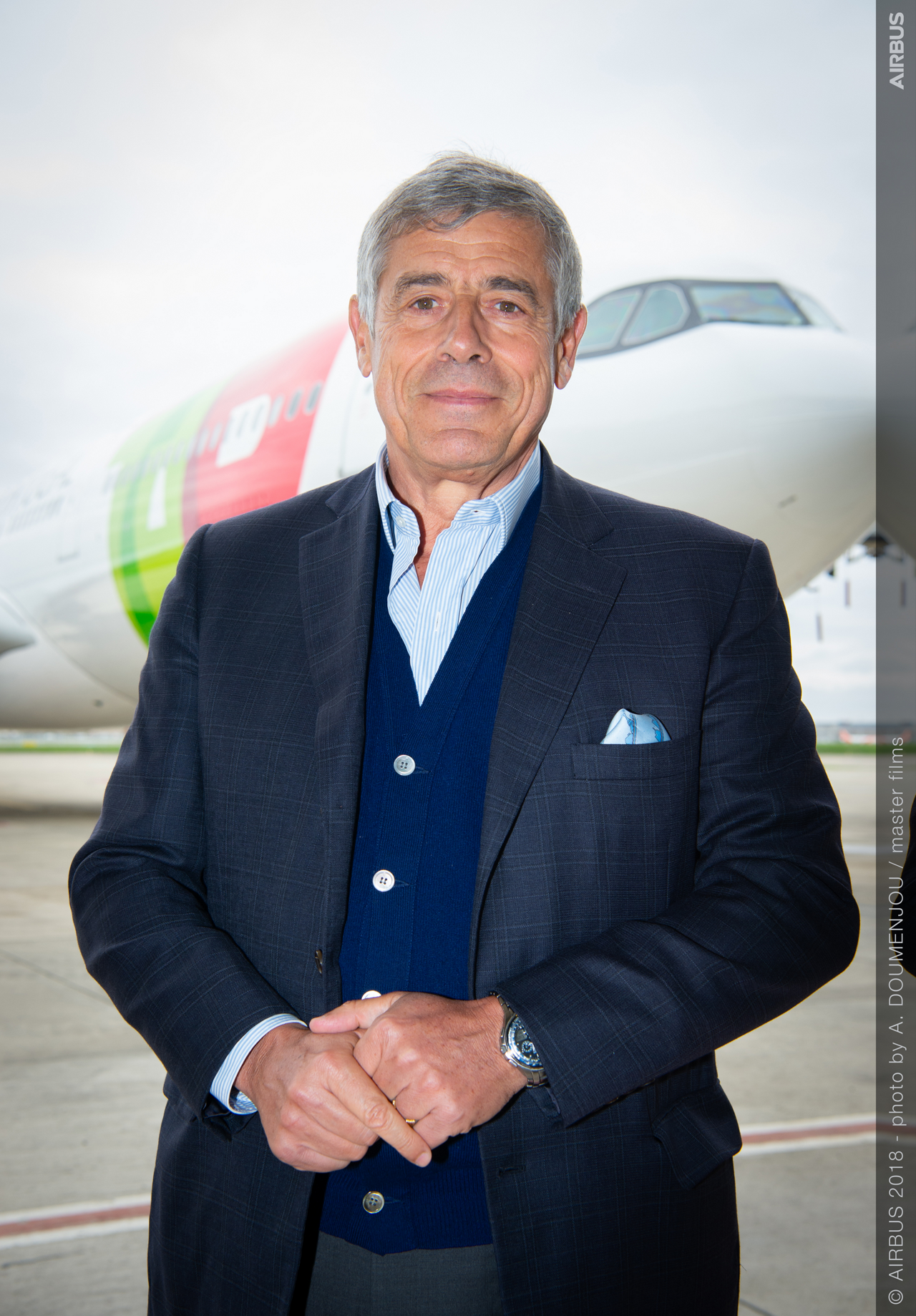 First A330-900 TAP Air Portugal MSN1836 Delivery Ceremony - Employees Testimonies   Jean-Michel Roy, Test Pilot  (Airbus)  in front of First A330-900 TAP Air Portugal   First A330-900 TAP Air Portugal   TAP Air Portugal takes delivery of the world's first new generation widebody A330neo   2018, November 26th
