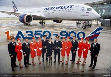 First Aeroflot A350-900 – Aeroflot
