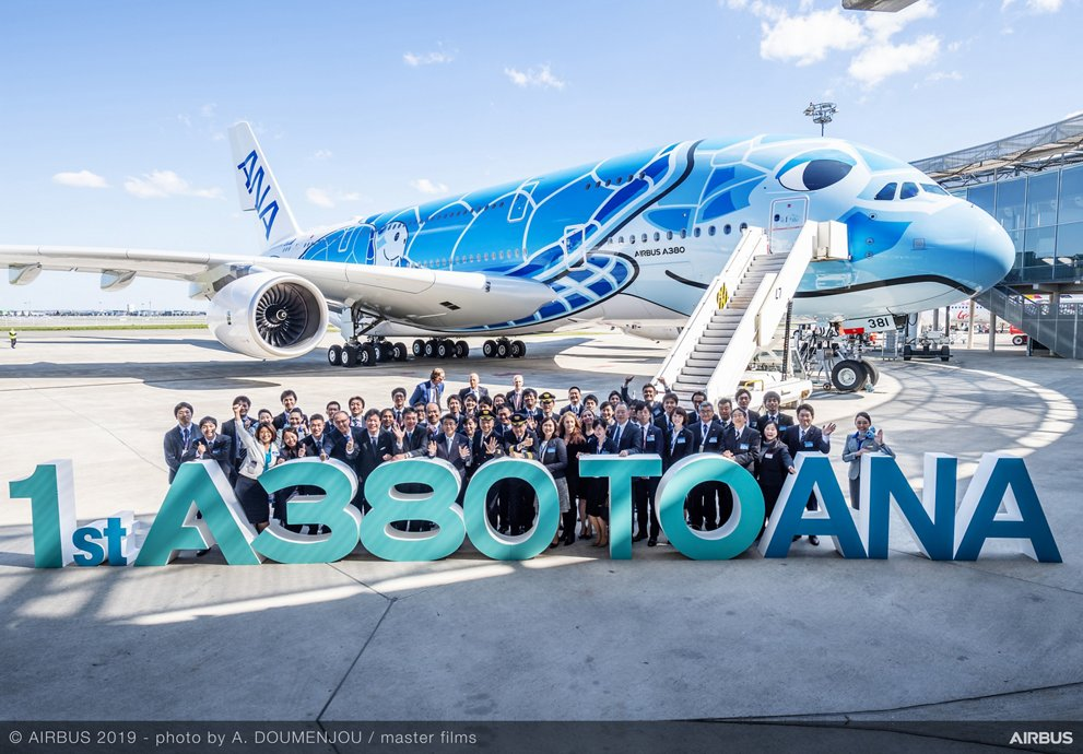 First delivery: A380 for All Nippon Airways