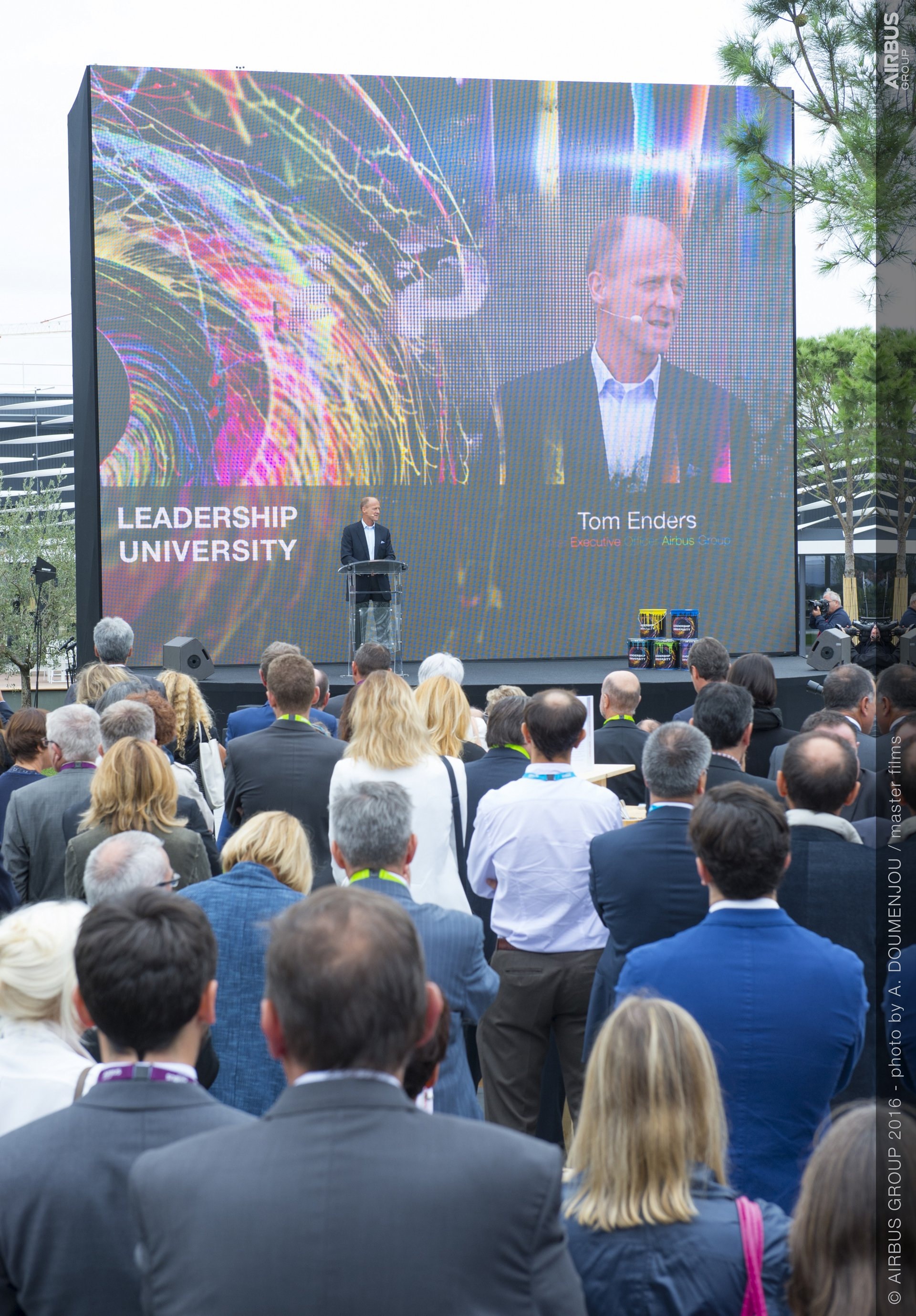 CEO Tom Enders during the Leadership University inauguration