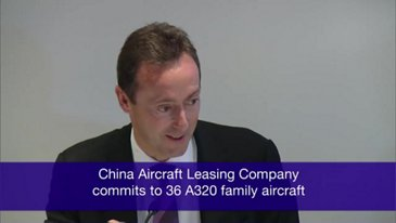Farnborough 2012 鈥� China Aircraft Leasing Company selects the A320 Family