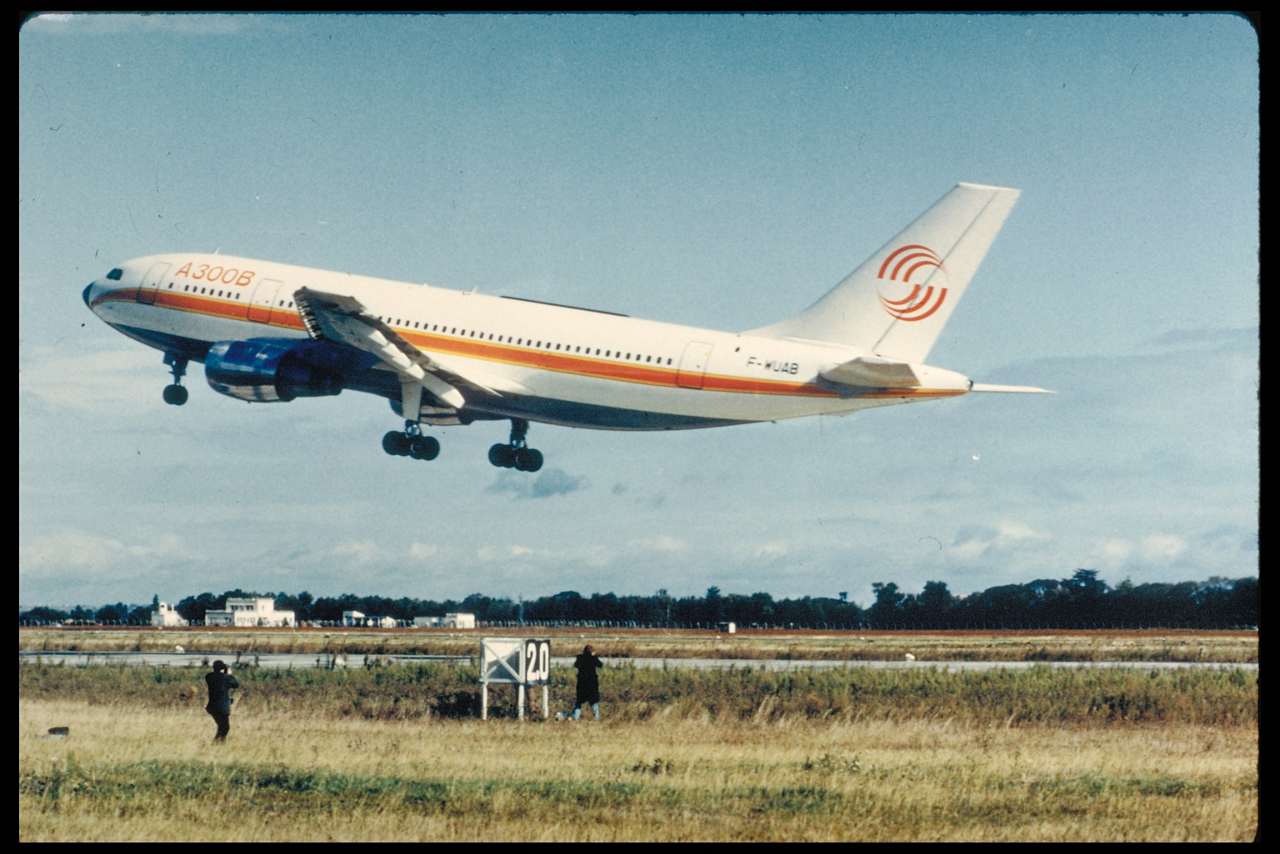Airbus' A300, the first widebody twin-engine airliner, makes its maiden flight on 28 October 1972 from Toulouse, France one month ahead of schedule