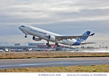 A330-200F  Airbus first flight