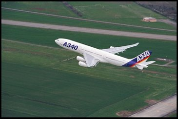 A340-200  Airbus first flight