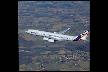 A340-500  Airbus first flight