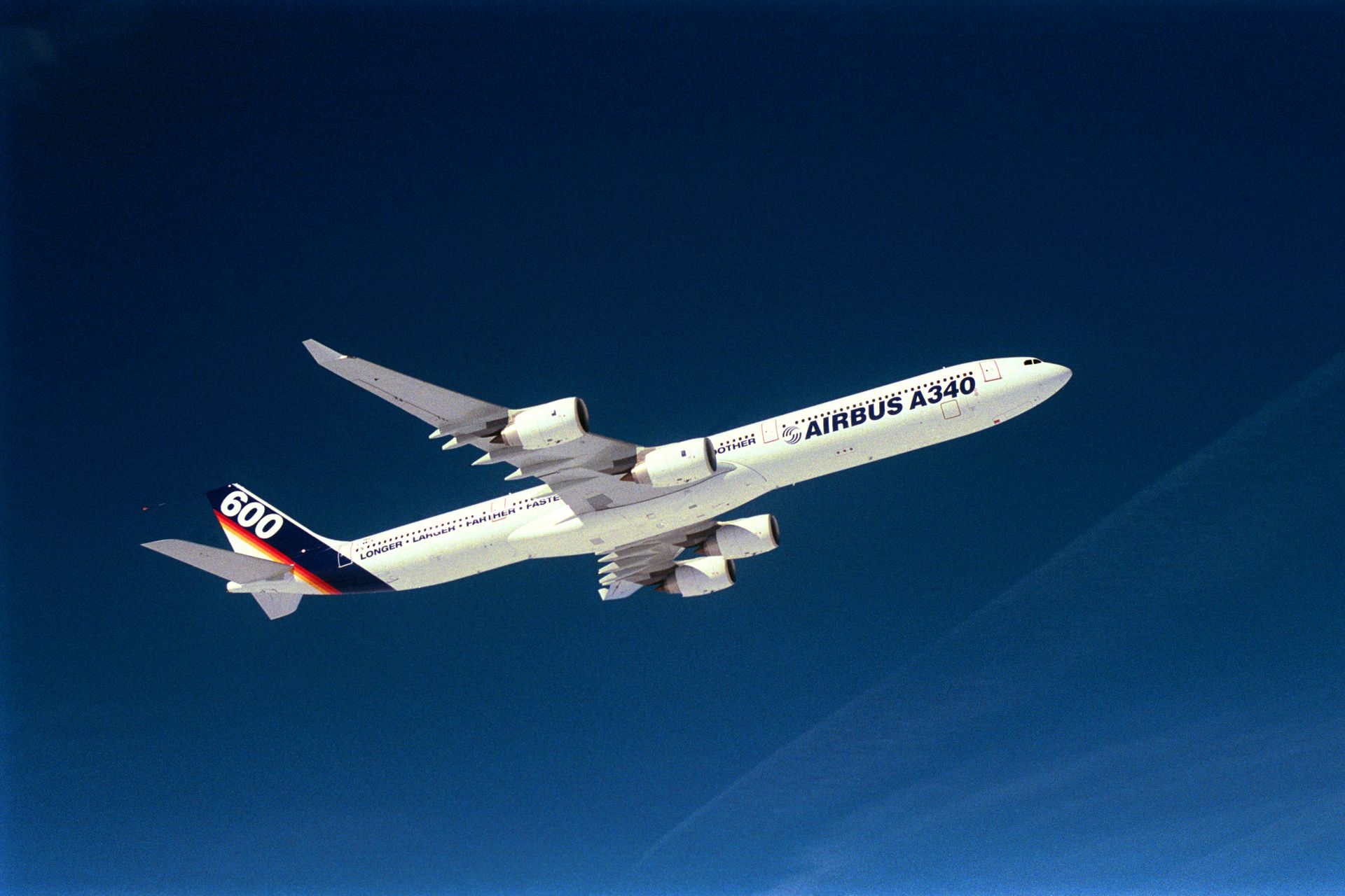 A340-600  Airbus first flight
