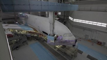 ANA A380 Paint Roll-Out