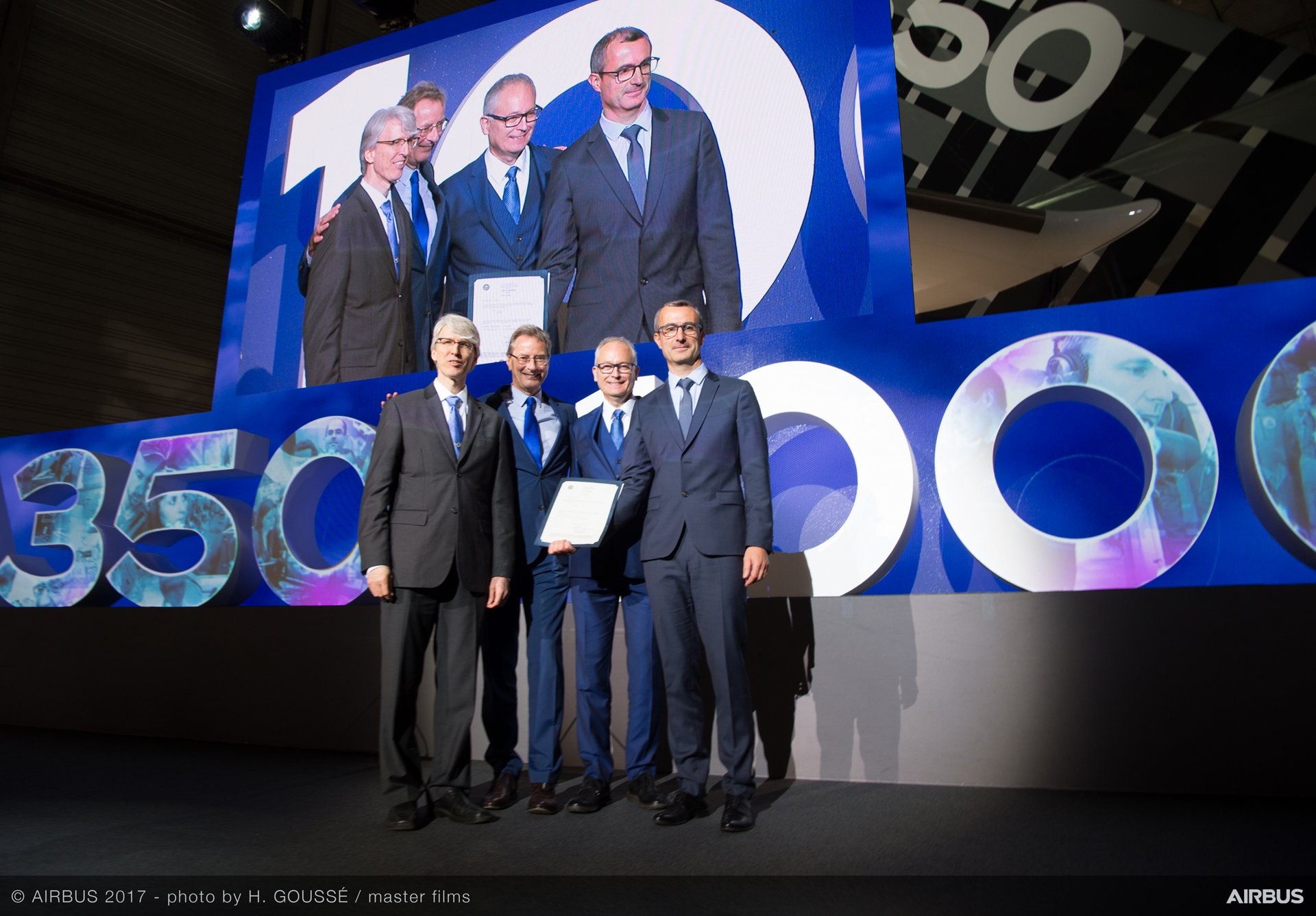 A350-1000 Type certification ceremony