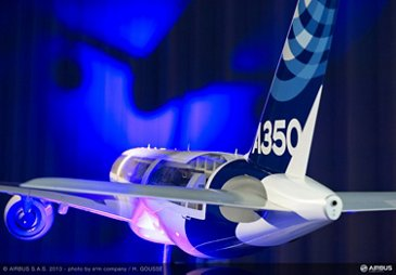 Airbus 2013 NYPC ambiance A350 mock-up