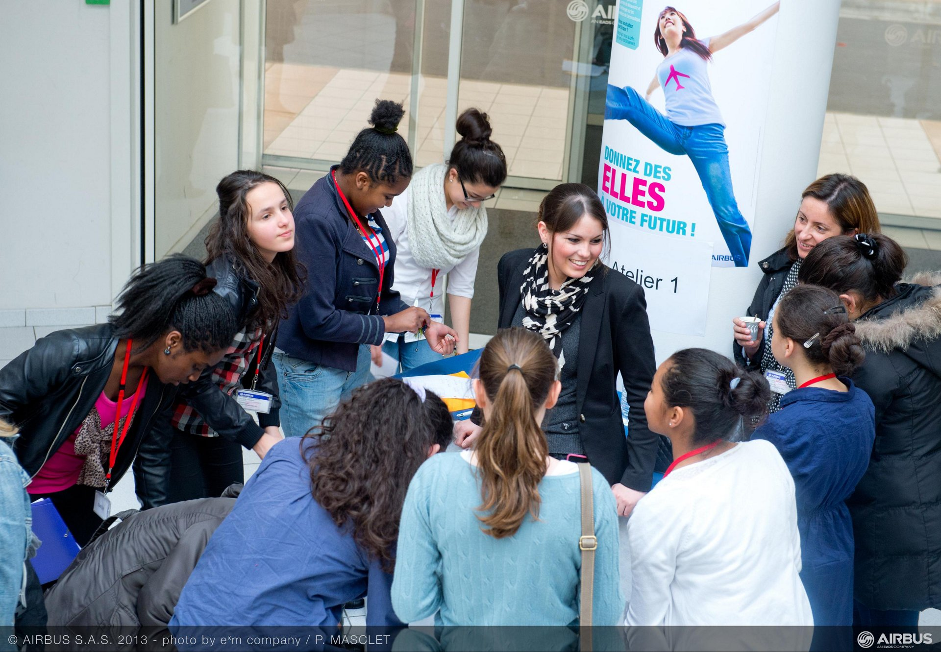 "On 11 October Airbus welcomed eighty schoolgirls to its Toulouse site for a day of discovery and discussions. The purpose of this ""Les Elles du Futur"" (Girls for the Future of Aeronautics) initiative is to make the aeronautical professions better known and thus attract young girls to this industry.  -"