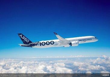 Airbus A350 1000 In Flight