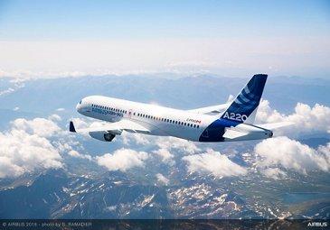 Airbus A220 300 In Flight