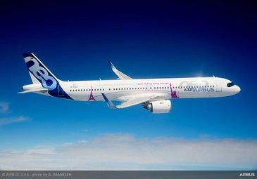 Airbus A321LR In Flight