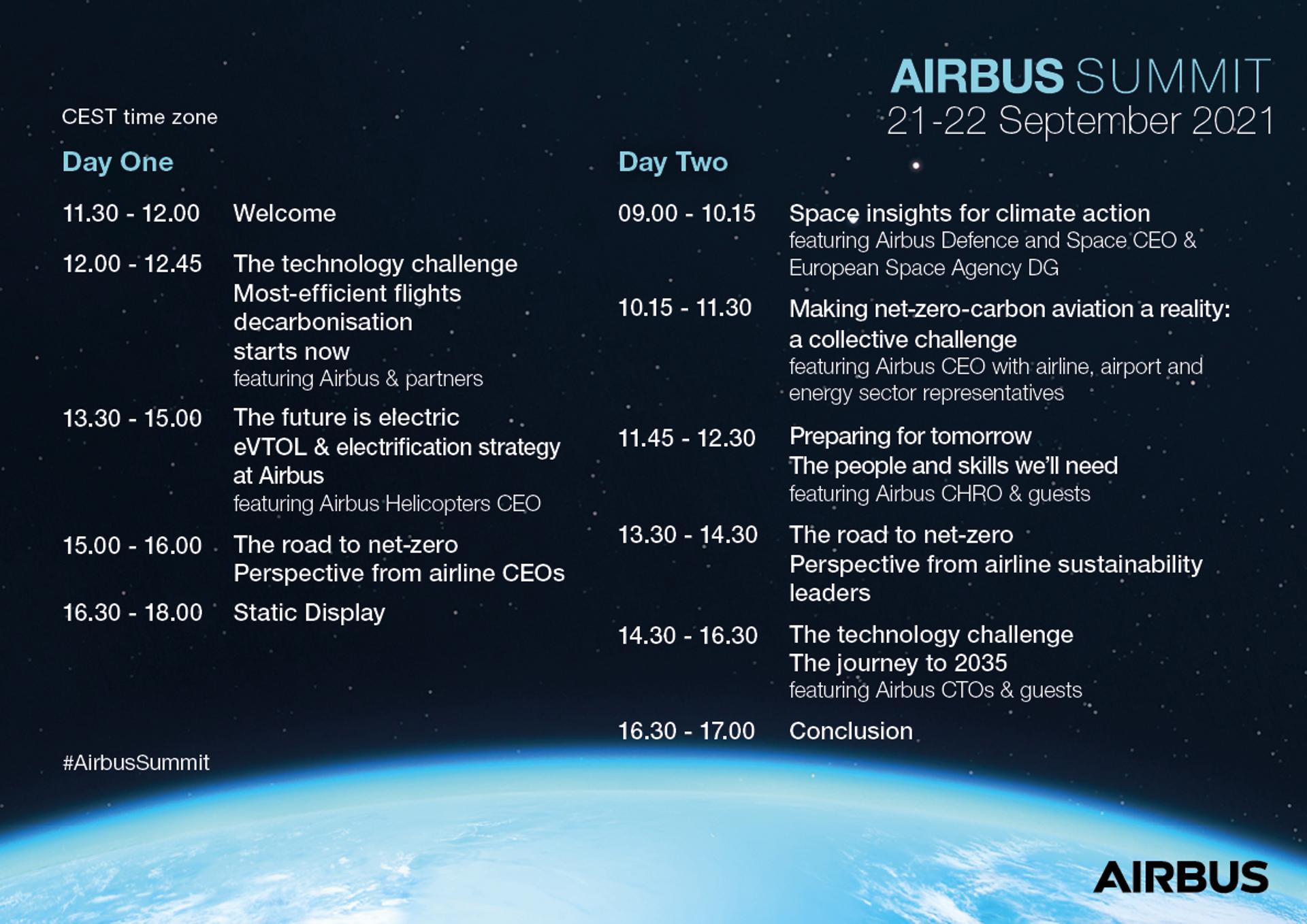Airbus Summit Agenda 2021