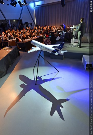2014 Airbus annual press conf - mock up
