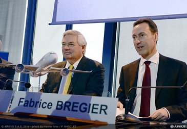 2014 annual Airbus press conf - bregier leahy