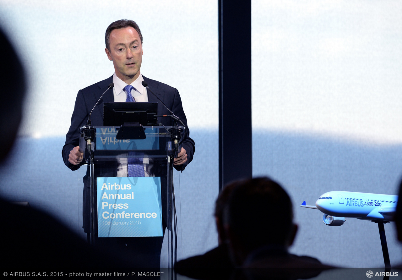 "Airbus President and CEO Fabrice Brégier: ""2014 has been an excellent year and the teams in Airbus not only delivered on, but exceeded, their targets and commitments"""