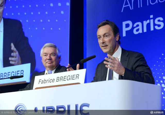 Airbus' top management reported results for 2015 and outlined key objectives for 2016 at the company's year-opening press conference in Paris, France
