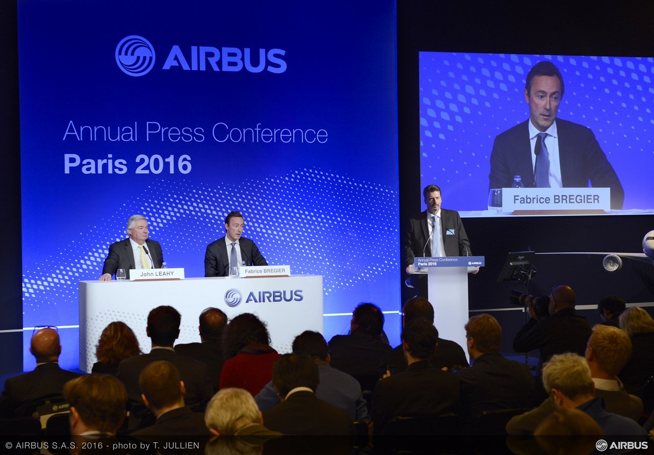 2016 Airbus annual press conference 1