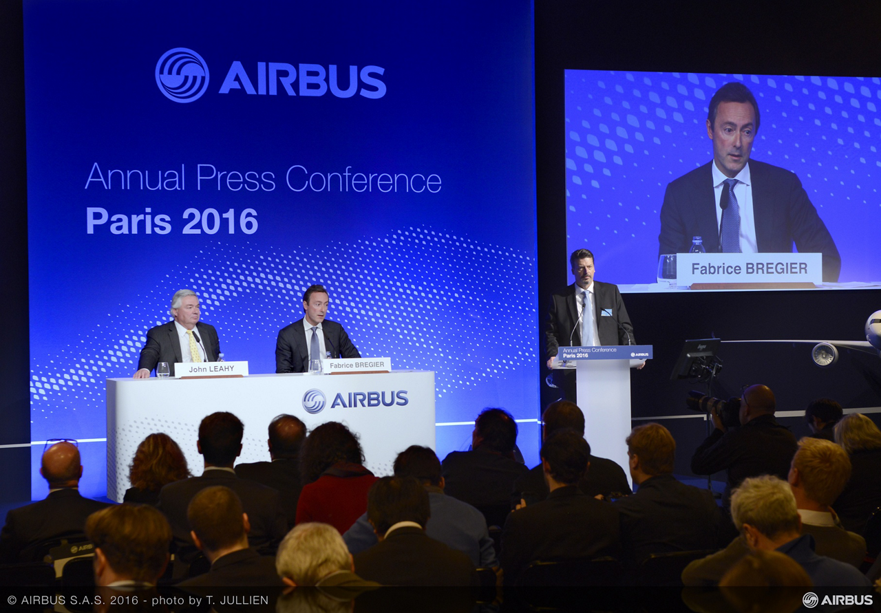 At the traditional year-opening press conference – held 12 January 2016 in Paris, France – Airbus' top management announced the company's 2015 results and its outlook for the year ahead