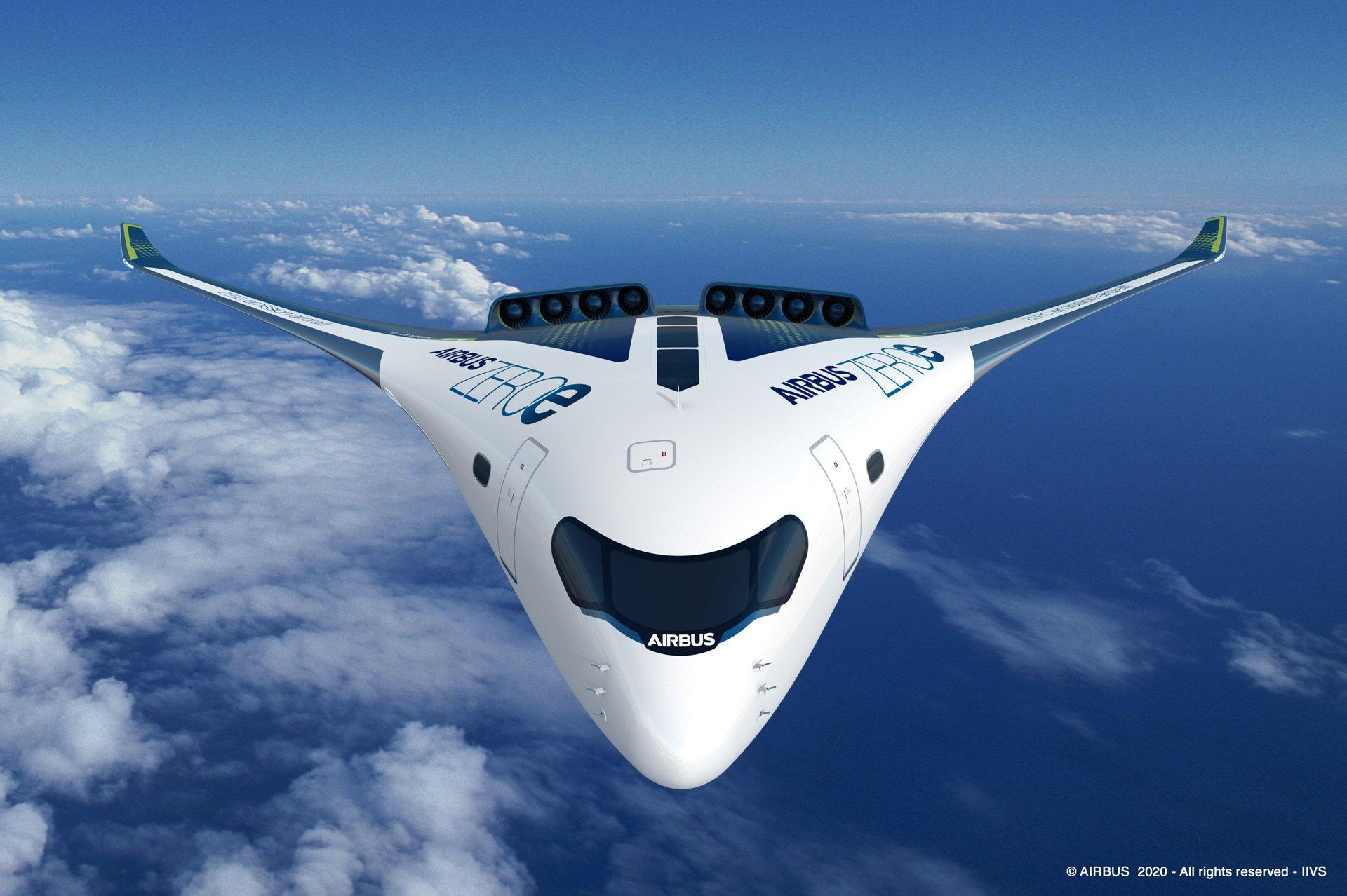 AirbusZEROe Blendedwingbody Concept 2