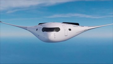 ZEROe concept aircraft:  Patrol flight