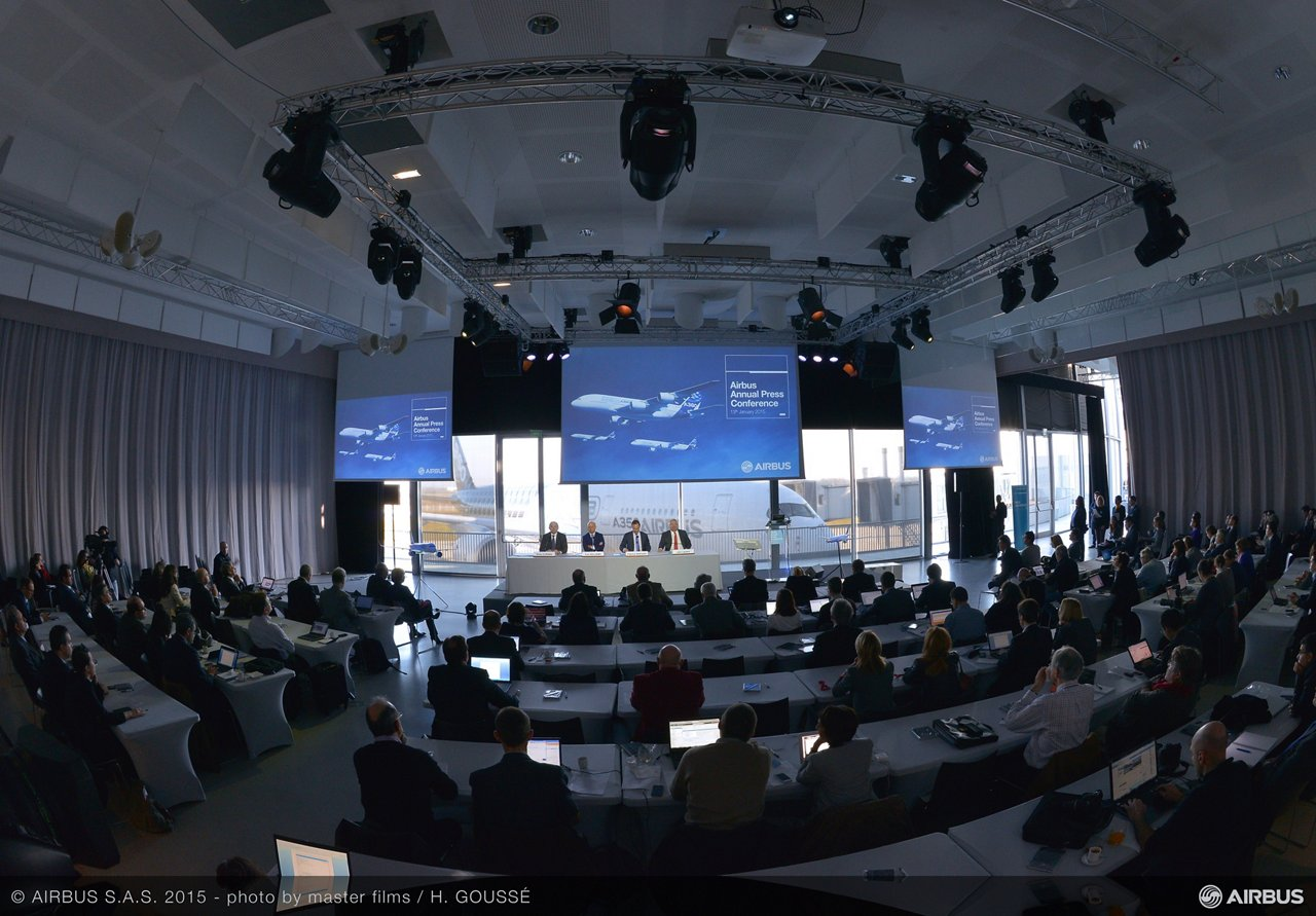 Airbus 2015 annual press conference_Ambiance 1