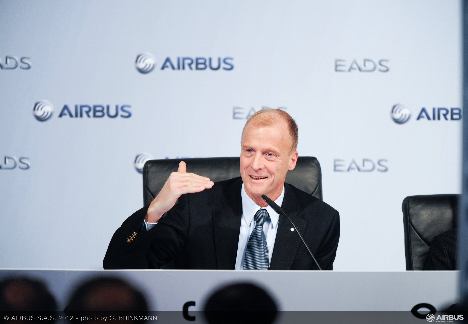 Speaking at the annual press conference in Hamburg, Germany, Airbus President and CEO Tom Enders underscored the company's 534 deliveries achieved during 2011 – its  highest annual amount ever (17 January 2012)