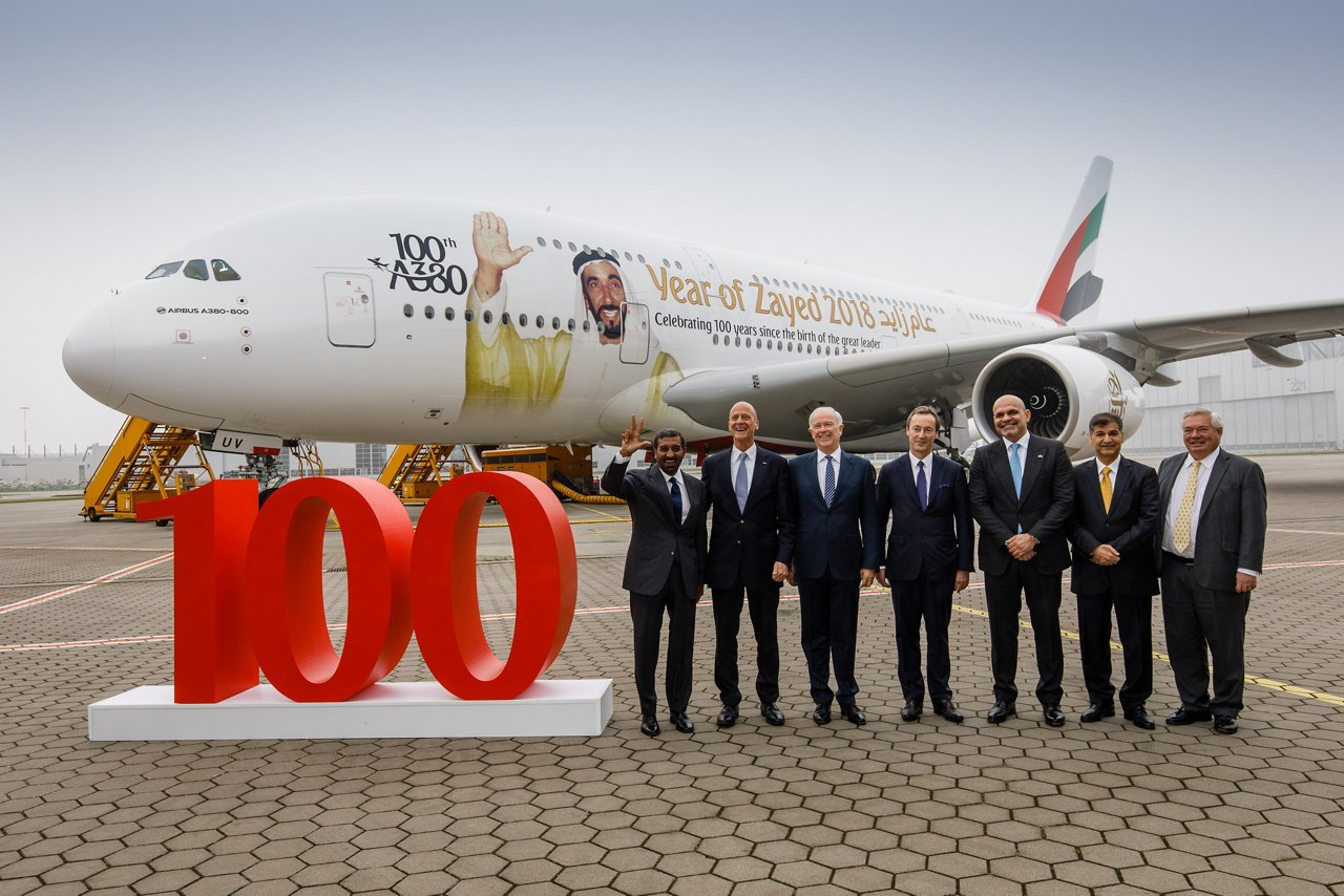 Emirates Welcomes 100th A380 To Its Fleet
